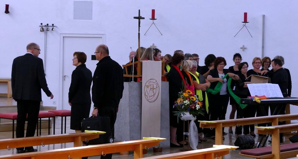 Der Gospelchor sang beim Morgengottesdienst
