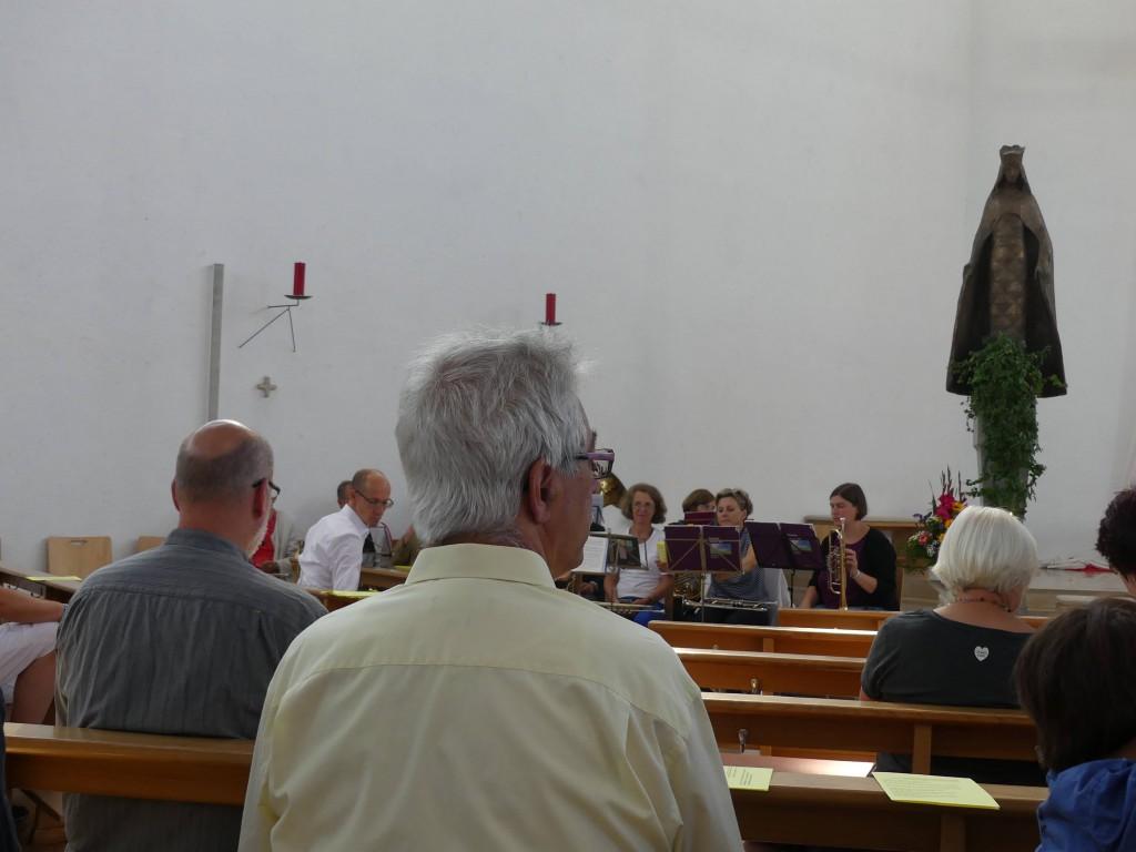 und der Posaunenchor erfüllte den Raum der katholischen Kirche.