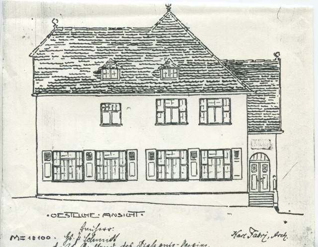 1904 - Eine Ansicht aus dem Originalbauplan