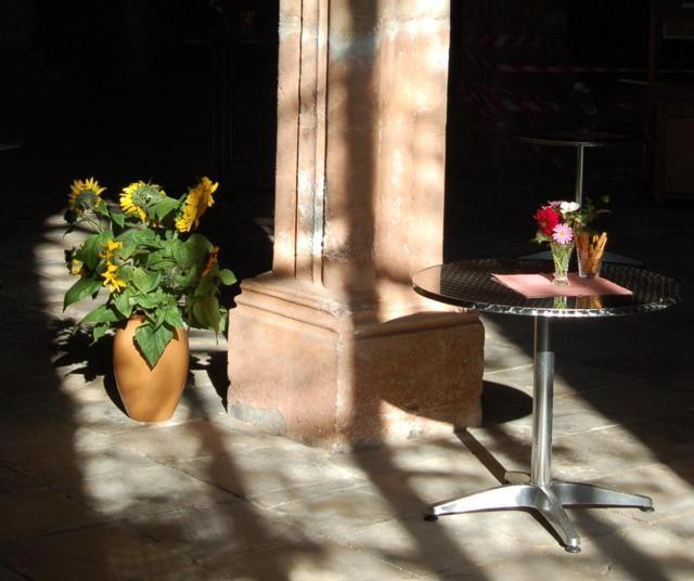 Blumen im Mortuarium